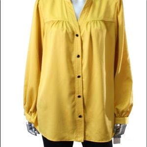 Bright saffron charter club blouse